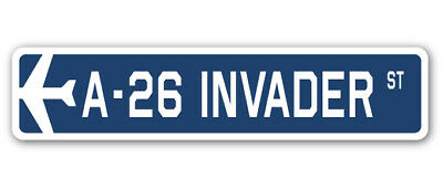 A-26 INVADER Street Sign military aircraft air force plane pilot gift