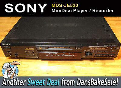 Sony MDS-JE520 MiniDisc Player Recorder with Editing Options - Tested & Working