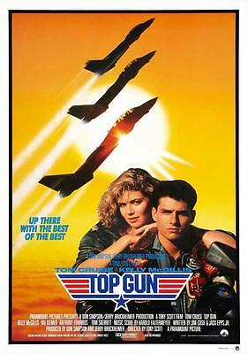 Top Gun Movie POSTER 27 x 40 Tom Cruise, Kelly McGillis, H, LICENSED, NEW
