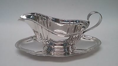 Gorham Sterling Silver Chippendale 939 Gravy Boat and 940 Saucer