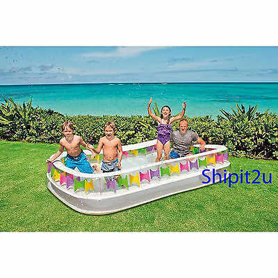 INTEX Swim Centre Family Lounge INFLATABLE ABOVE GROUND SWIMMING POOL