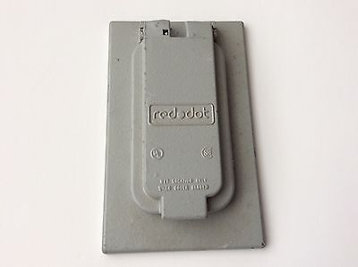 GFCI Cover Vertical Silver Device Mount Red Dot CCGV