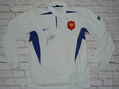 Maillot Polo FRANCE signed FREDERIC MICHALAK ultras rugby jersey shirt FFR