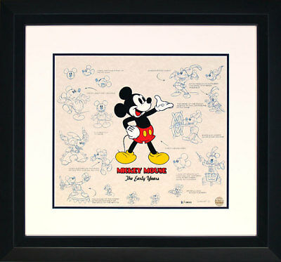 Mickey Mouse The Early Years Lumicel Disney 1500 14x16 NEW Framed Lights Sounds