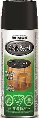 Rustoleum N1913830 SPECIALTY SPRAY PAINT CHALKBOARD BLACK 312G writable surface