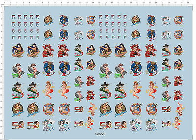 Girls and panzer animation figures Model Kit Water Slide Decal