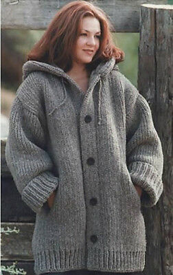 Knitting Pattern for Ladies Chunky Knit Jacket/Cardigan 46 - 66 in - EASY! (141)