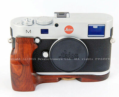 NEW Hand-Made Hard Red Wood Grip  fits Leica M240 camera