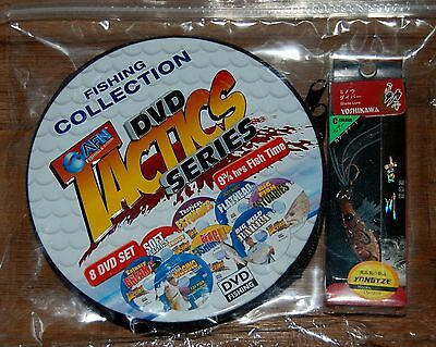AFN Fishing Collection Tactics Series - 8 DVDs 9.75 Hours Fish Time! FREE Lure