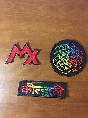 **LAST ONE** 3 Embroidered Coldplay Sleeve/jackets Patch