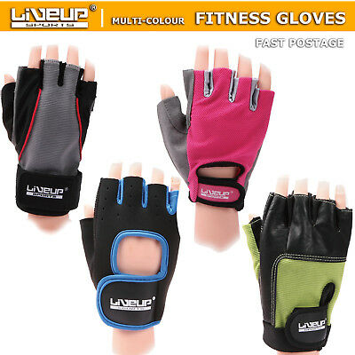 LiveUp Gym Fitness Gloves Weight  Lifting Training BodyBuilding Crossfit Workout