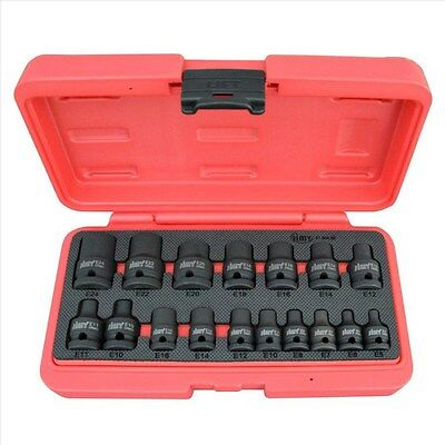 "17 Piece Impact Star Socket Set 3/8"" 1/2"" Square Drive"