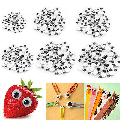 100PCS 5M-35M Wiggly Wobbly Googly Eyes Self-adhesive Scrapbooking Crafts
