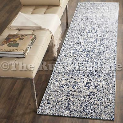 FORTUNA BEIGE BLUE ALLOVER ANTIQUE STYLE TRADITIONAL RUG RUNNER 80x400cm *NEW**