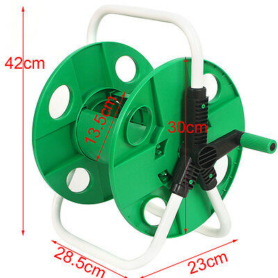 45M Portable Free Standing Hose Pipe Reel Holder Garden Cart Water Pipe Carrier