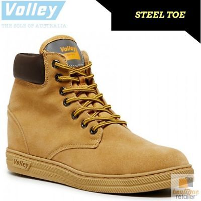 DUNLOP VOLLEYS Steel Cap Toe Safety Lace Up BOOTS Volley Original Trade Zip Side
