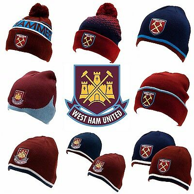 West Ham Hat Bobble Hat Beanie Hat, Bronx Hat, Ski Hat, Knitted Hat West Ham FC