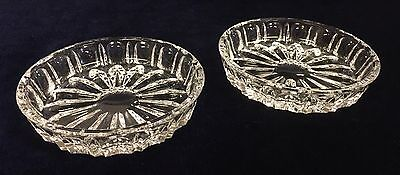 Vintage Crystal Daisy Pattern Pin Dishes
