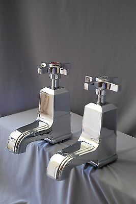 Bath Taps Art Deco Antique Chrome Stunning Taps Reclaimed & Fully Refurbished