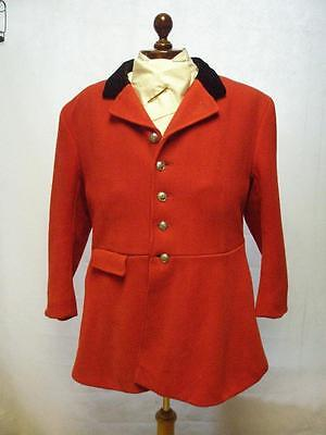 "*vintage Traditional Heavy Hunting Red Coat-North East Cheshire Drag Hunt 46""*"