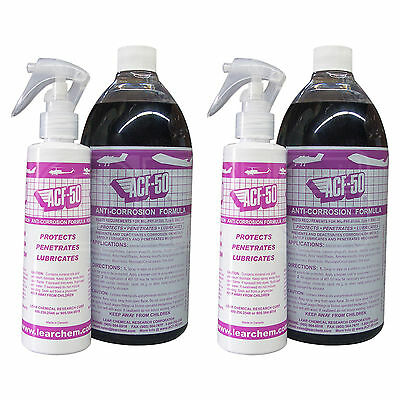 ACF-50 Anti-Corrosion Formula - TWO BOTTLES (with 2 x refillable spray bottles)
