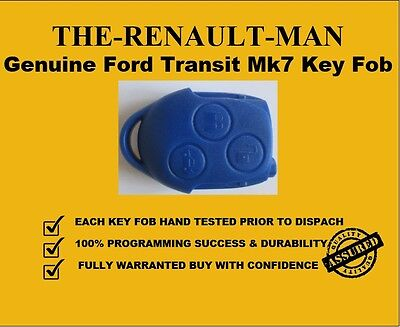 Genuine Ford Transit Blue 3 Button Remote Key Fob mk7 new ready to program