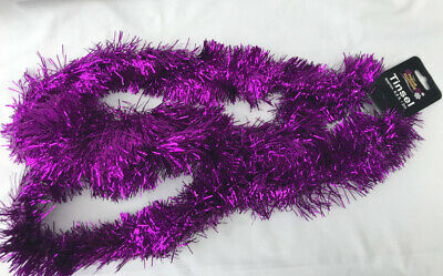 CHEAP Purple Christmas Tinsel Garland Christmas Tree Decoration 2m Tinsel 6ply