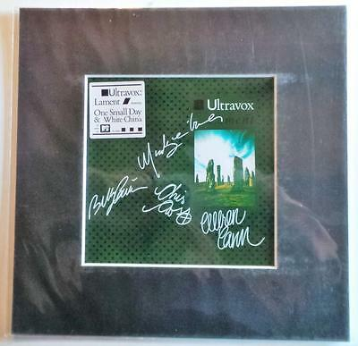 "Ultravox Lament Autographed Pre Print 10"" X 10"" With Mount Ready To Frame"