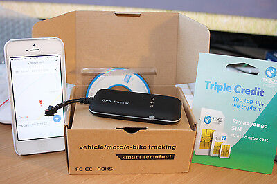 Vehicle Tracking System, Motorcycle, Classic Car, Tractor Quad Including Service