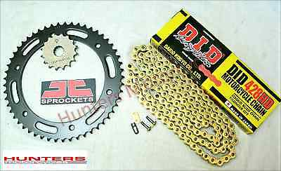 Honda CBR125R DID Gold Heavy Duty Chain & JT Sprocket Kit Set (2011 to 2016)