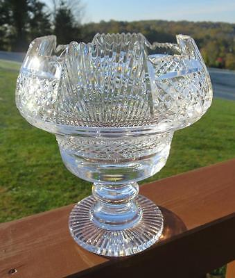 MINT Waterford Heritage Collection Footed Centerpiece Bowl Cut Crystal Heavy
