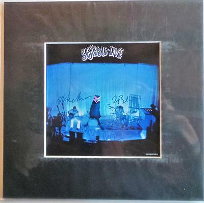 "Genesis Live Lp Cover Signed Preprint 10"" X 10"" In Mount Ready To Frame"