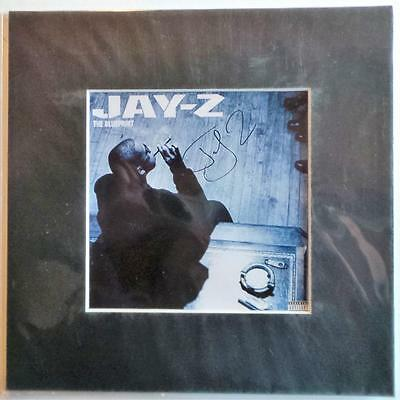 "Jay-Z The Blueprint Cover Signed Preprint 10"" X 10"" In Mount Ready To Frame"