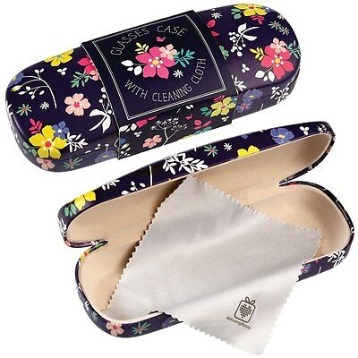 dotcomgiftshop DITSY GARDEN DESIGN HARDSHELL GLASSES CASE & CLEANING CLOTH