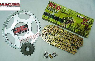 Suzuki SV650S 1999 to 2009 DID Gold X-Ring Chain & JT Sprockets Kit Set