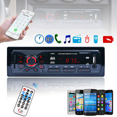 In-Dash Bluetooth Car Stereo FM Radio MP3 Audio Player Aux IN Receiver SD USB