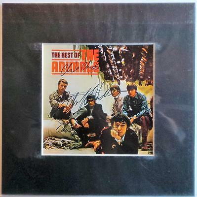 """The Animals Best Of Lp Cover Signed Preprint 10"""" X 10"""" In Mount Ready To Frame"""