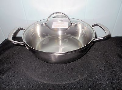 Princess House Heritage Classic Stainless Steel 2-Qt. Round Casserole New In Box