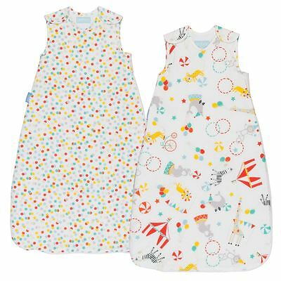 The Gro Company Roll Up Day & Night Baby Sleeping Grobag 1.0/2.5 Tog 0-6m 2-Pack