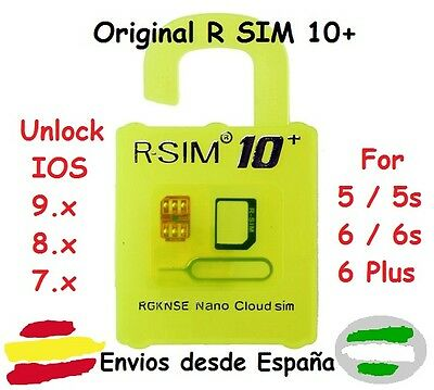 R-SIM 10+ PLUS RSIM Unlock Card for iPhone 6S 6S+ 6 6+ 5 5S 5C iOS 9.X