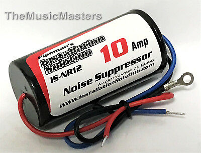 Car Stereo Radio Audio 12 Amp Power Wire Engine Noise Filter Suppressor Isolator