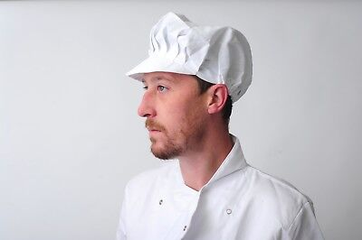 Baker Caps Black White Catering Hats for Chef Bouffant CAP in many colours