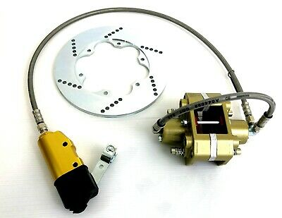 Italian Racer Brake Hydraulic System in Gold with Red Pads / Cadet Kart / Rotax
