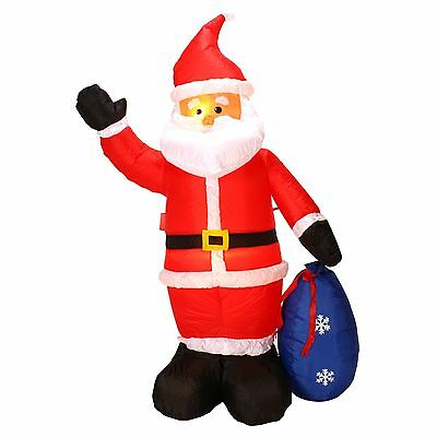 "Danson Decor X94272 INFLATABLE WAVING SANTA WITH GIFT BAG 71"" HEIGHT PERE-NOEL"