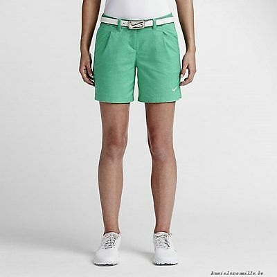 NIKE OXFORD WOMEN'S GOLF SHORTS GREEN 725763-319 NEW UK 10 and UK 12