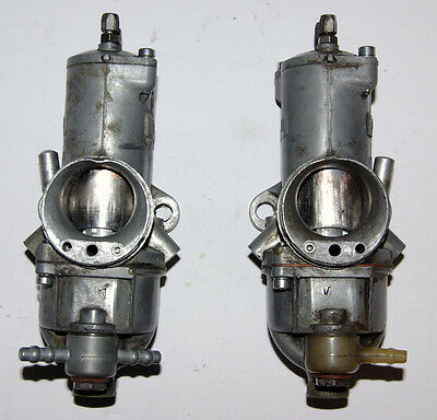 genuine Amal carburettor 930 pair from T120 Bonneville with bronze/chrom slides