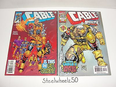 Cable #73 & 75 Comic Lot Marvel 1999 Apocalypse The Twelve X-Force Rob Liefeld