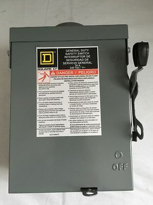 Square D General Duty Safety Switch 30 Amps Du221Rbup Brand New In Box
