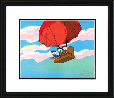 Duck Tales Huey Dewey and Louie in Hot Air Couch Balloon Production Cel Disney