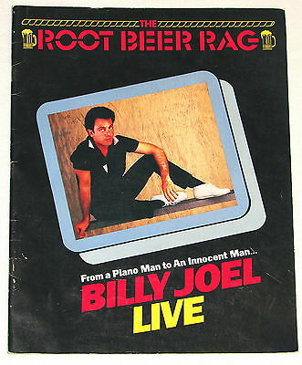 1983 BILLY JOEL LIVE -THE ROOT BEER RAG CONCERT TOUR PROGRAM w/ COLOR PICTURES!!